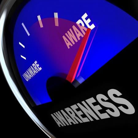 wahrnehmung: Eine Tankanzeige misst die Erh�hung oder Verbesserung der Sensibilisierung eines Gesch�fts-, Produkt-, Service-oder sonstige Kenntnisse
