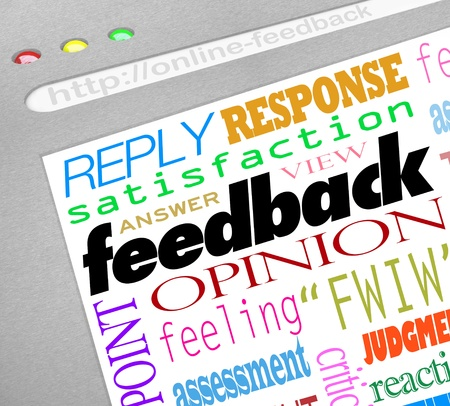 replies: A website screen showing an online survey for collecting feedback, opinions, answers and viewpoints from customers or audience members