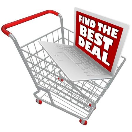 An open laptop computer in a shopping cart Stock Photo - 17801009