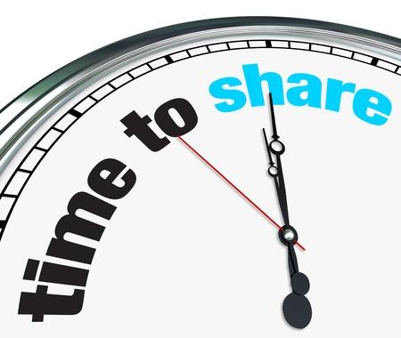 generosidad: Un reloj adornado con el Tiempo para compartir palabras en su cara