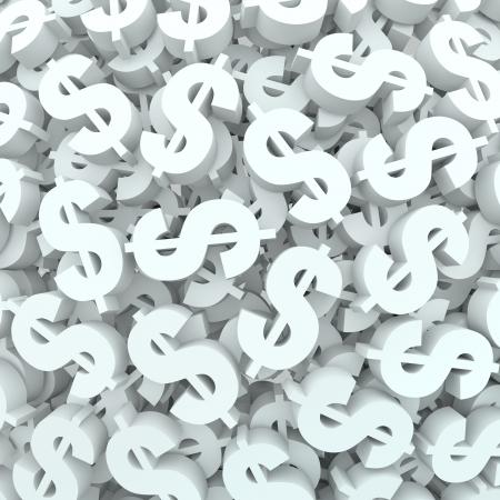 signos de pesos: Un fondo de signos de d�lar y s�mbolos para representar e ilustrar las finanzas y el presupuesto de las ideas y conceptos de contabilidad