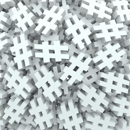 let on: Un fondo de las etiquetas de hash o libras o n�mero de signos para ilustrar las nuevas plataformas de tecnolog�a de medios sociales que le permiten tag puestos, actualizaciones o mensajes Foto de archivo