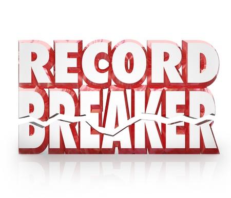 rompiendo: Triturador de registro 3D de palabras puntaje superior o mejor en la competencia para ilustrar ganar un juego o un desaf�o