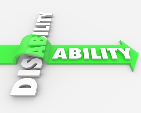 skills diversity: A positive attitude and determination can help you overcome your disability and turn a challenge, obstacle or adversity into a new ability