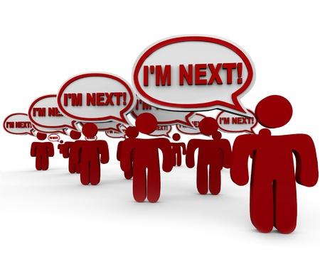 anticiparse: Las palabras que yo estoy al lado de globos de texto en espera de servicio o apoyo