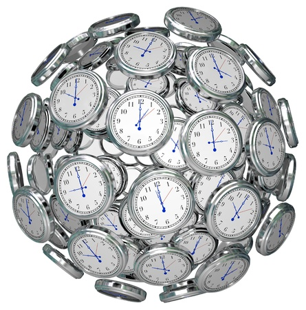 sphere clock Фото со стока