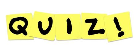 notas adhesivas: La prueba de la palabra en notas adhesivas amarillas