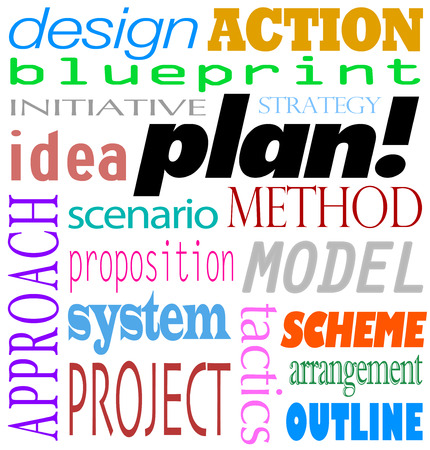 Het woord Plan en gerelateerde termen in een tekst zoals blauwdruk, ontwerp, actie, initiatief, strategie, idee, aanpak, scenario, propostion, systeem, model, sheme, project-en regeling