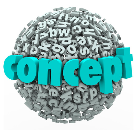 resourceful: Concept word on a ball or sphere of 3d letters to illustrate thinking about a new idea or solution and developing a strategy or plan to achieve a goal or success in business or life Stock Photo