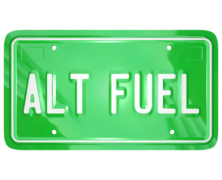 Alt Fuel illustrating alternative energy or power sources for cars, trucks and automobiles in a green movement to conserve the planet's resources