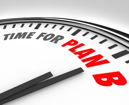 Temps pour le plan B des mots sur une horloge
