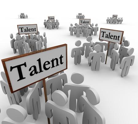 Signos de talento con clusters o grupos de personas Foto de archivo - 26173007