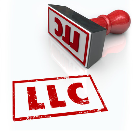LLC red ink stamp to license your business as a limited liability corporation with your state or local government grantic approval for your application