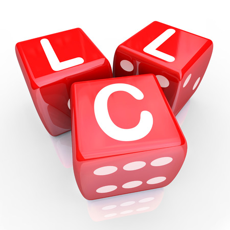 licensing: Roll the dice on an LLC - limited liability corporation by setting up your new business as an entrepreneur with a company model with tax benefits, legal protection and simple management