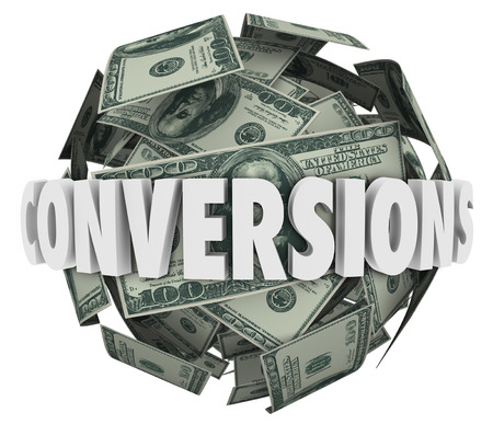 completing: Conversions word in 3d letters on a ball or sphere of hundred dollar bills