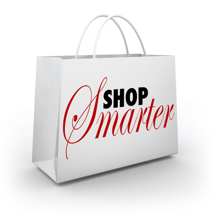 Shop Smarter words on a store shopping bag