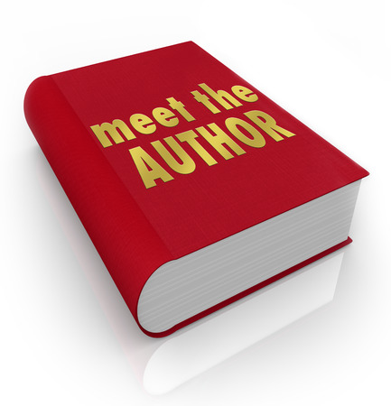 meet: Meet the Author words on a red book cover