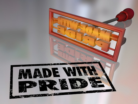 Made with Pride branding iron marking a product to show you are proud of what you manufactured with handcraft work photo