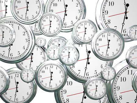 多くのクロックは刻 々 と過ぎて、時間の上の行進前進として、秒、分、時間ダウン カウント