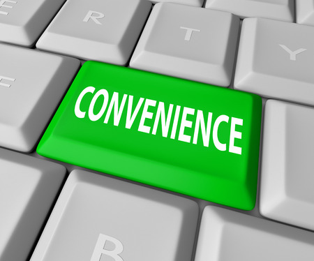 Convenience word on a computer keyboard key or button to get fast, responsive, user friendly service
