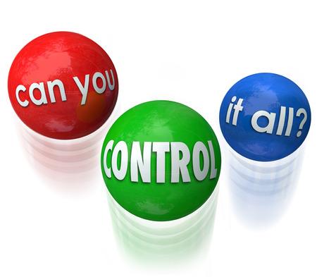 Puedes controlar todo cuestión de tres bolas mezclen por alguien estresado por tener demasiados trabajos, tareas o prioridades