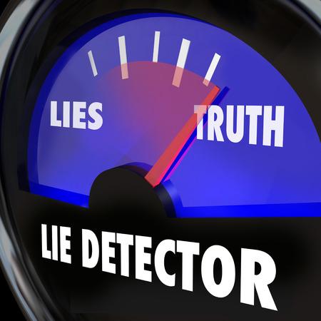 Lie Detector Verità Onestà Vs Disonestà Lying poligrafo test Archivio Fotografico