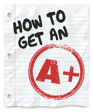 How to Get an A Plus grade or score on a school test, report, exam or other written assignment photo