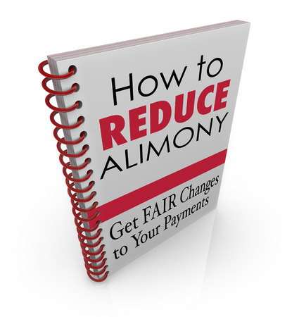 alimony: How to Reduce Alimony words as title on a book offering legal advice, assistance, information or tips on lowering the amount of your divorce spousal support payments