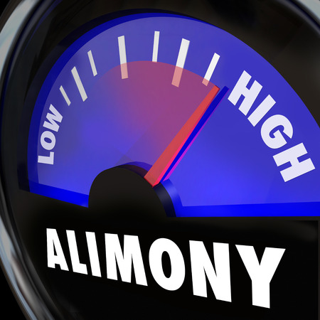 Alimony Gauge or measurement of financial spousal support in low to high payment amounts photo