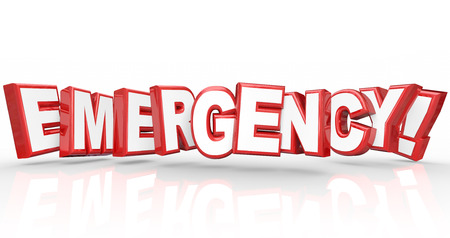 Emergency 3d Words Red Letters Big Crisis photo