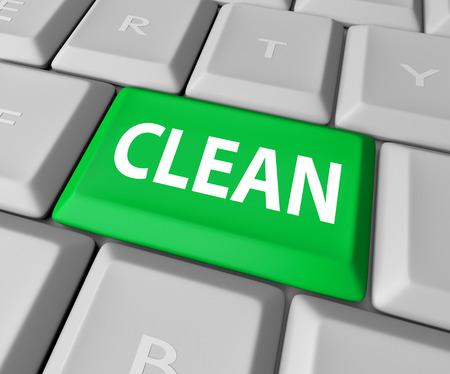 porn: Чистый слово на зеленой кнопки на клавиатуре компьютера, чтобы проиллюстрировать сайт не застрахован от порно или спам или вирус был удален или дезинфицировать