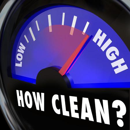 desinfectante: Cómo Limpiar palabras en un medidor que mide el nivel de limpieza en una inspección de autorización o certificación