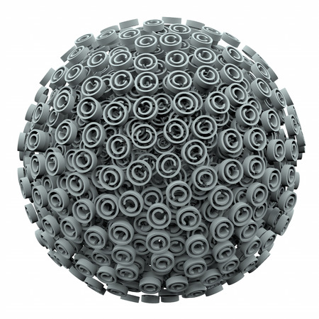 Copyright symbols in a 3d ball or sphere symbolizing protection from infringement or violation of your intellectual property rights photo