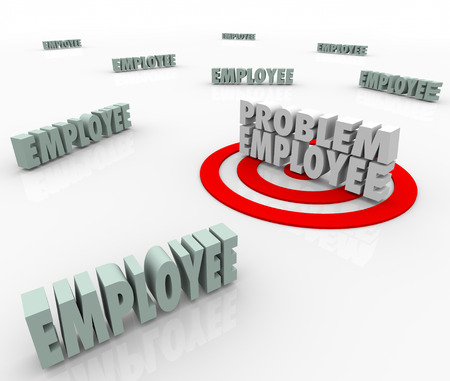 the unskilled worker: Problem Employee targeted in a workforce of employees, workers and other people as the difficult person in the group