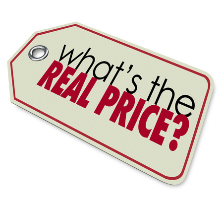 buying questions: Whats the Real Price words on a tag
