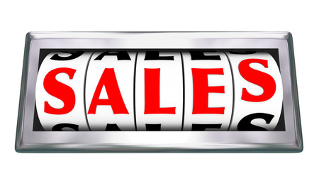 commissions: Sales word on 3d dials of a gauge or odometer to measure closed deals or agreements