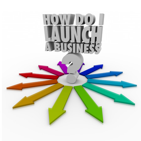 How Do I Launch a Business 3d words on a question mark in the middle of arrows pointing the way with advice, tips and information on starting your company photo
