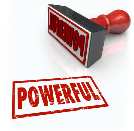 better performance: Powerful word in red stamp to illustrate your strong intense force Stock Photo