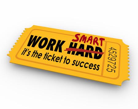 productividad: Trabajar palabras inteligente no es difícil en el boleto para el éxito en la carrera, trabajo o vida
