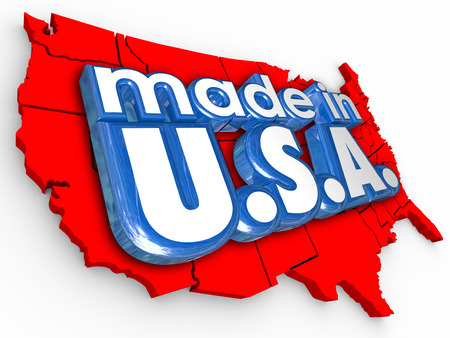 Made in USA American pride and honor in production and manufacturing of products or services photo