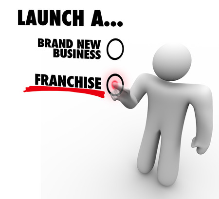 voted: Launch a Brand New Business or Franchise choice voted by entrepreneur or company founder deciding the best option