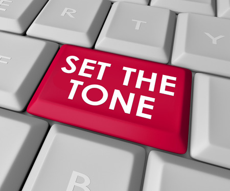 implication: Set the Tone words on a computer keyboard button or key to inject meaning in your message in text or email
