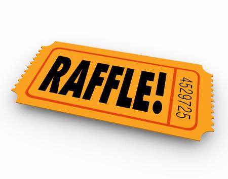 당신이 상금 또는 다른 상을 도면을 이기기 위해 입력을 위해 오렌지 티켓에 추첨 단어