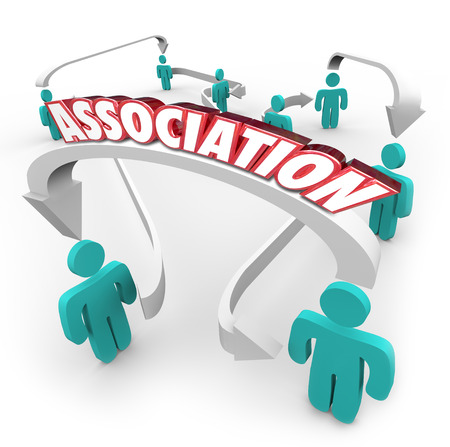 cooperativismo: Asociación de palabra en las flechas que conectan las personas en un grupo, organización, club, comunidad, sociedad, liga, equipo o gremio