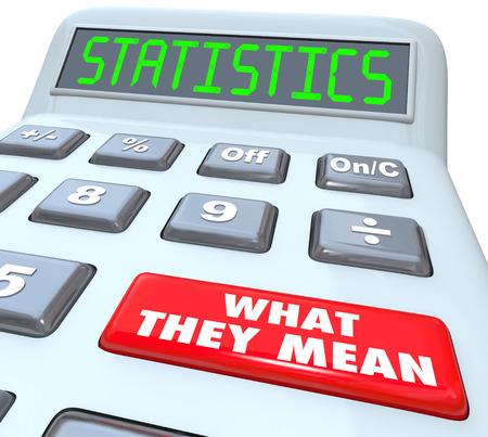 predictive: Le statistiche di parola su una calcolatrice e pulsante rosso lettura cosa significano spiegando il significato della percentuale di probabilit�