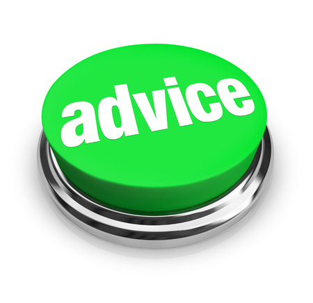 Advice word on a green button for you to find support, service, help, asistance, information or tips to complete a job or task Reklamní fotografie