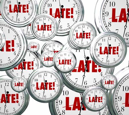 지각, 연체 또는 예정보다 늦어 지거나 급하게 또는 따라 잡기 위해 서둘러야 할 필요성을 설명하기 위해 날아가는 시계에 대한 최신 소식 스톡 콘텐츠 - 35635065