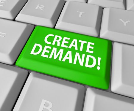 soliciting: Customer Demand words on a green computer keyboard key or button to illustrate building an online business and growing your customer base