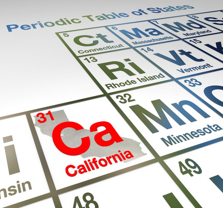California Abbreviation Ca On A Periodic Table Of Elements Or
