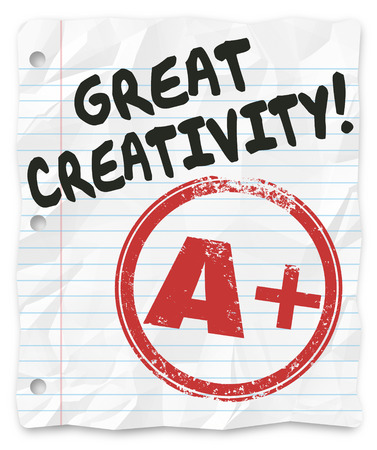 imaginativeness: Great Creativity and A Plus grade on a writing assignment, report or paper for school or class, full of original and inventive ideas